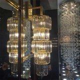 De Franse Moderne Grote Cilindrische Kroonluchter van het Kristal van de Luxe voor de Zaal van de Overeenkomst