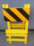 Gelbe faltende Verkehrs-Plastikbarrikade für Straßenbau