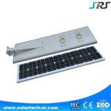 Système solaire Integrated tout de réverbère du détecteur de mouvement de Sunpower de batterie de Lituium DEL dans un