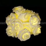 LEDローズの花ライト20暖かい白LEDの屋内寝室の結婚式ストリングライト
