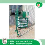 Kundenspezifische zusammenklappbare Stahlabfertigungs-Laufkatze für Lager mit Cer