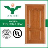Sola puerta de madera doble del fuego anti