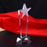 Métier populaire de trophée de verre cristal d'étoile