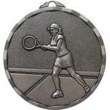 3D旧式な銀製のテニス賞の円形浮彫り
