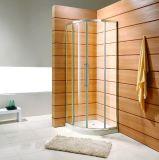 Recinto enmarcado cuadrante de la ducha con los dos paneles de la puerta deslizante