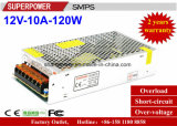 alimentazione elettrica di commutazione di 12V 10A 120W per il video di obbligazione