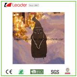 Het Metaal van de tuin silhouetteert het Beeldje van de Schaduw van de Herten van de Staak voor de Decoratie van Kerstmis