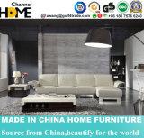 ホーム居間のコーナーのソファーおよび白い本革(HC261)