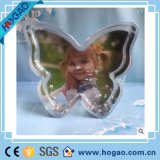 Акриловый шарик воды формы цветка глобуса снежка рамки фотоего