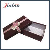 弓が付いている習慣によって印刷される卸し売り誕生日プレゼントの包装の紙箱