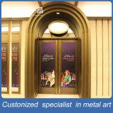 商業建物のためのカスタマイズされた緑の青銅色のステンレス製の前部鋼鉄ドア