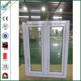 Ventana y puerta esmaltadas dobles exteriores del oscilación del impacto de la casa del Doble-Cristal