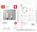 Новая молния к переходнике кабеля 1.2m 2m Jack 3.5mm мыжскому тональнозвуковому вспомогательному для iPhone