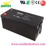 Batterie au gel à cycle profond solaire 12V250ah pour système d'accueil solaire