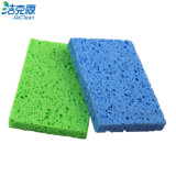 L'éponge de cellulose de forme de S, éponge de nettoyage, qualité, emploient extensivement, éponge de cuisine