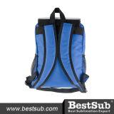 Sublimation scherzt den Schule-Beutel (blau mit schwarzer Tasche)