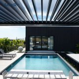 Pergola-Aluminiumpatio-Dach-Entwurfs-wasserdichte im Freienvorhänge