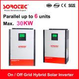 inversor de la energía solar de 4kVA 4000W Hybri con el regulador solar de la carga de 80A MPPT