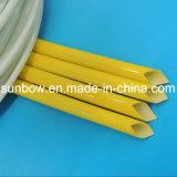 Fibra de vidrio revestida certificada UL del caucho de silicón que envuelve para el harness del alambre