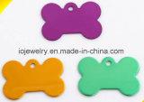 Etiquetas de perro coloridas de Uluminium de la joyería de Animel para los animales domésticos