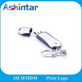 Azionamento dell'istantaneo del USB dell'anello portachiavi del metallo del disco del USB Thumbdrive della plastica
