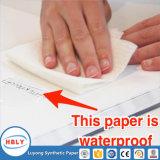 Promoción con el cuaderno de encargo del papel de la piedra de la insignia