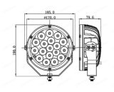Lmusonu 10-30V Gleichstrom-nicht für den Straßenverkehr 7 Zoll-Punkt/Flut CREE 18PCS*5W 90W LED Arbeitslampe
