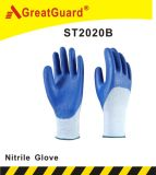 3/4 покрытием нитриловые перчатки (ST2020)