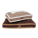 Das Knochenmoderne Brown-flaumige Polyester-Hundekissen-Bett (YF95141)
