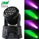段階軽い7PCS 10Wの移動頭部LEDライト(HUYN-809)