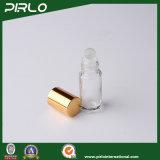 3ml 5ml cancelam o frasco de vidro luxuoso do desodorizante do perfume com o Portable pequeno da tampa de alumínio do ouro