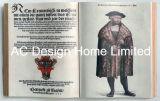 Het beroemde Art. van de Muur van de Vorm van het Boek van de Mens Pu Leather/MDF Houten