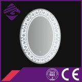 Espejo de cristal del nuevo cuarto de baño oval de la llegada Jnh233 con el reloj