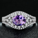 Gorgeous Lady Fashion Amethyst Jewelry Ring