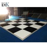 Plancher de danse en bois modulaires de bord en aluminium pour l'événement
