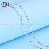 Diseño puro sólido de 925 de la plata esterlina del 100% nuevo del collar muchachas del encadenamiento