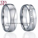 Regalo spazzolato di promessa di amore degli anelli delle coppie di aggancio della fascia di cerimonia nuziale