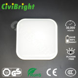 IP64 10W Square Smooth Curved Damp-Proof LED Ceilinglight avec GS