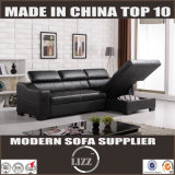 多機能L形の革ソファー(Lz701)