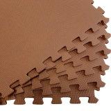 De goedkope Mat van het Schuim van EVA van de Textuur van de Prijs Grote recycling Geborstelde Bruine