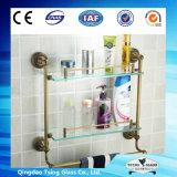 El vidrio claro del estante/el vidrio de la esquina del estante/templó el vidrio del estante para Showeroom/el refrigerador/la decoración