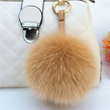 方法様式の赤13cmのキツネの毛皮のポンポンか毛皮または方法毛皮の製品