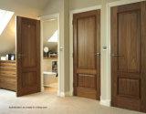 Portes internes augmentées de chambre à coucher de noix en bois solide des graines