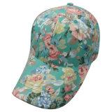 Gorra de béisbol floral del panel de la manera 6 con la tela floral Bb110