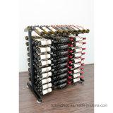 Rek van de Vertoning van de Wijn van de Vloer van het Metaal van 180 Fles van de detailhandel Freestanding