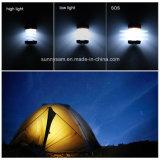 Camping solar linterna LED recargable Linterna USB plegable portátil de la luz de linterna Linterna impermeable