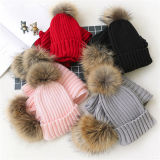 2017 новой моды Pompom мех Red Hat