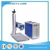 máquina rotatoria de la marca del laser de la fibra de la etiqueta de plástico del laser del anillo de la pluma del metal de 10W 20W 30W