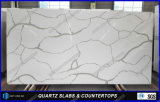 Partie supérieure du comptoir en pierre blanches conçues neuves de cuisine de matériau de construction de Chine