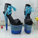 Leecabe Glitter 20cm Fashion Shoes Pole Dancing Sandalen Plus Size Schoen 20 inch hand Made Pole Dance Schoen